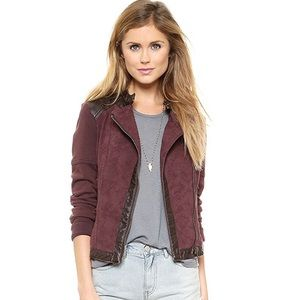 Free People Rugged Jacquard Pieced Moto Jacket